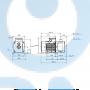 Горизонтальный, многоступенчатый центробежный насос CM10-4 A-R-I-E-AQQE F-A - 96945979