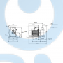 Горизонтальный центробежный насос CM15-4 A-R-I-V-AQQV F-A-A - 97516410