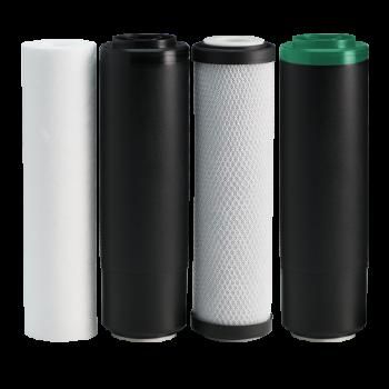 Комплект картриджей 1-2-3-4 Ecosoft для фильтра RObust PRO