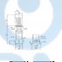 Вертикальный насос CR10-02 A-A-A-V-HQQV 3x23 - 96501105