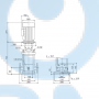 Вертикальный насос CR15-08 A-F-A-E-HQQE 3x40 - 96501899