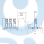 Установка повышения давления Grundfos HYDRO MPC-S 3 CR 64-1 - 95044884