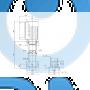 Вертикальный многоступенчатый центробежный насос CRNE 45-2 N-F-A-E-HQQE - 96123445
