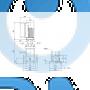 Вертикальный многоступенчатый центробежный насос CRE 15-10 A-F-A-E-HQQE - 96514506