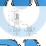 Вертикальный многоступенчатый центробежный насос CRE 5-2 N-FGJ-A-E-HQQE - 98390036