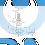Вертикальный многоступенчатый центробежный насос CRNE 5-9 N-P-A-E-HQQE - 98390187
