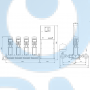 Установка повышения давления Grundfos Hydro MPC-E 4 CR64-3-1 50/60Hz RUS - 98439543