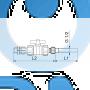Инжекционный клапан с шаровым клапаном Grundfos 0202-64 SS/T/SS 4A-20/27 95730960